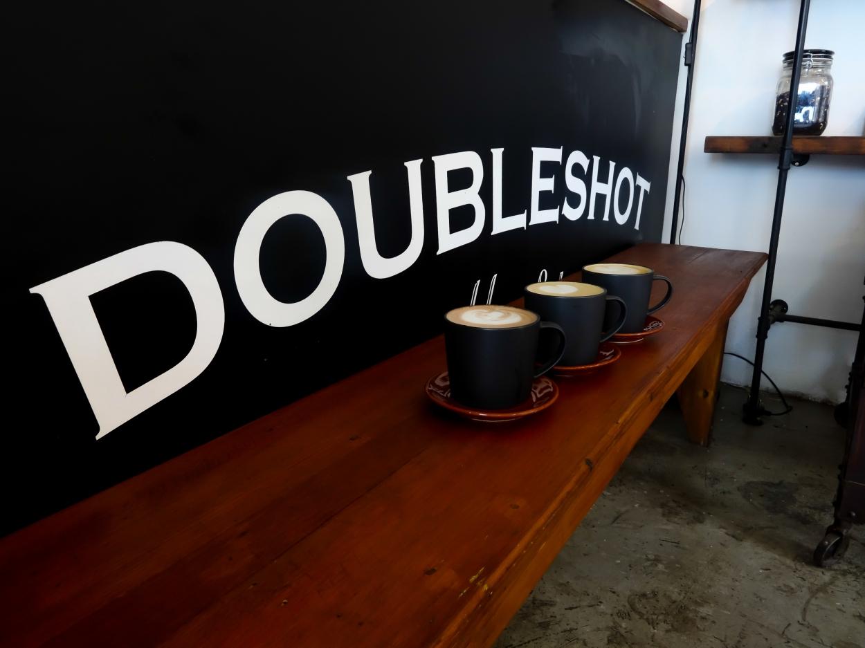 double shot coffe